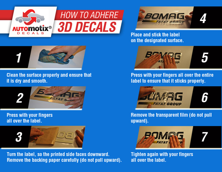 How to Adhere 3D Decals