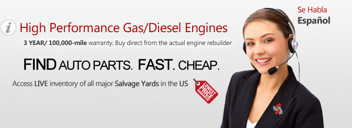 High performance gas/diesel engines. 7 YEAR/70000 MILE warranty. Buy direct from the actual engine rebuilder.