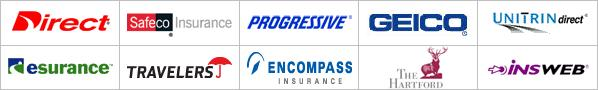 Florida  insurance agencies: Progressive, Geico, Travelers, The Heartland, insweb, Encompass Insurance, Safeco Insurance, Esurance, Unitrin and Direct