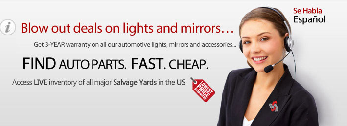 Best auto collision replacement and aftermarket lights, mirrors, and accessories at the most preferred price