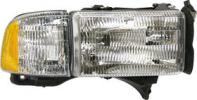 1998 Dodge Ram 1500 Headlight, Passenger Side