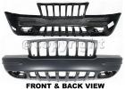 2000 Jeep Grand Cherokee Bumper Cover, Front