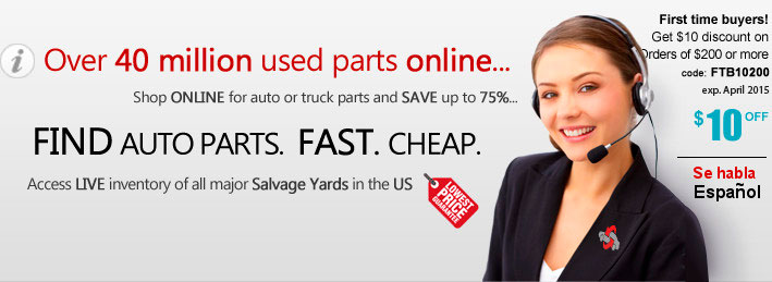 Over 40 million used auto parts online. Shop online for auto and truck parts and save up to 75%