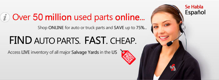 Over 50 million used auto parts online. Shop online for auto and truck parts and save up to 75%