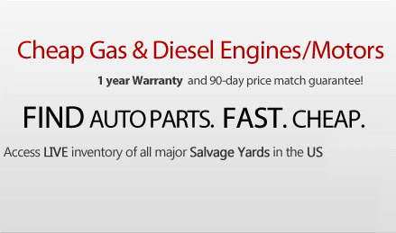 Cheap gas & diesel engine/Motors. 1-year warranty and 90 days price match guarantee